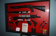 Zombie Preparedness Kit.  Got the book, first aid kit, & spam. NEED WEAPONS! Oh got a crossbow!