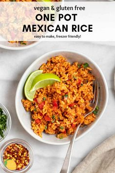 This easy mexican rice recipe is a gluten free and vegan recipe that adds flavor to any meal! #mexicanrice #easymexicanrice #mexicanricerecipe #eatwithclarity