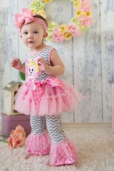 Easter outfit Easter bunny top toddler by Personalizedkiddie