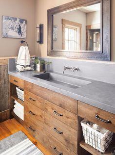 Bathroom Cabinets for Small Bathroom . Bathroom Cabinets for Small Bathroom . Refined Rustic Bathroom Home Decorating Bad Inspiration, Bathroom Inspiration, Style At Home, Ideas Baños, Decor Ideas, Decorating Ideas, Theme Ideas, Wood Ideas, Craft Ideas