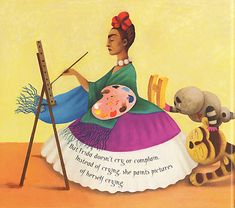 Frida- illustrated book about Frida Kahlo by Ana Juan. LOVE!