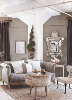 This what i just love for decor!:)@ By MichelleNiday Interiors, published Fall/Winter 2012 Country French magazine Interior Exterior, Home Interior, Interior Design, French Interior, French Decor, French Chic, French Style, My Living Room, Home And Living