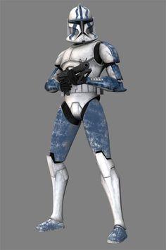 (I didn't create this art)  Clone trooper Coric.