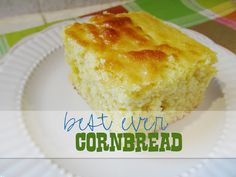 Seriously is the best cornbread I've ever had.  I substituted a half cup of Greek yogurt for the oil; makes it so moist and delicious!