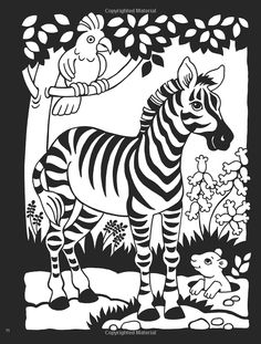 Welcome to Dover Publications / Zoo Animals Stained Glass Coloring ...