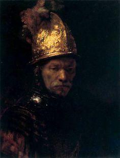 1650 Hombre con yelmo dorado.