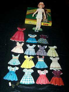"1950's ""Magic Mary Lou"" paper doll set."