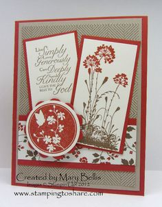 Our Creative Crafters' Stamping to Share Demo Meetings are just full of fun and inspiration. For our July Meeting, we decided to have a Sho...