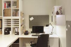 IKEA hacked office space! #storage #reno #smallspace #organize www.nicheredesign.com