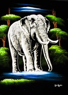 CeyPearl.com - Loner Elephant in the Woods at Night, $48.31 (http://www.ceypearl.com/loner-elephant-in-the-woods-at-night/)