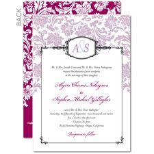 Monogrammed Grace Wedding Invitations