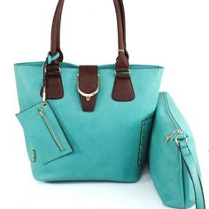 $42.99Amazon.com: Designer Inspired 2 in 1 Signature Top Golden Diamond Shape Studded Shopper Bag with Cosmetic Case / Cosmetic Pouch / Make-up Bag and Coin Bag Drop in Turquoise Light Blue: Clothing
