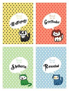Neko Atsume Cats belong in Hogwarts houses