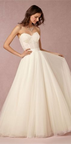 BHLDN Sweetheart Tulle Wedding Dress / http://www.himisspuff.com/sweetheart-wedding-dresses/6/