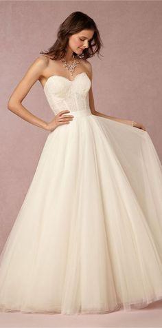 BHLDN Sweetheart Tulle Wedding Dress / http://www.himisspuff.com/sweetheart-wedding-dresses/6/