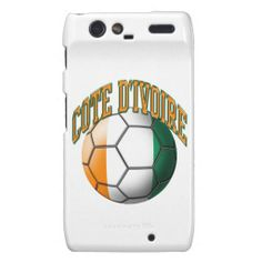 Flag of Cote d'Ivoire Soccer Ball Droid RAZR Covers #soccer #football #futbol #coted'ivoire #droid #razr #cover #case