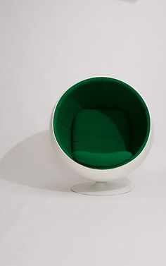 The Ball Chair, launched in 1966 Ball Chair, Cool Chairs, Product Launch, Tableware, Bar, Design, Blue Prints, Dinnerware, Tablewares