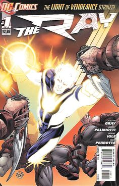 The Ray __Written By Justin Gray & Jimmy Palmiotti , Artist And Cover Art Jamal Igle , _Get ready for a brand new Ray! Lucien Gates's life is changed forever when he is struck by a mysterious beam of