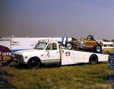Chevy car hauler and race car