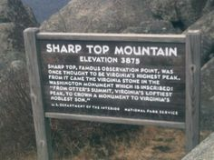 Sharp Top Mountain, Bedford VA. We hiked the entire way to the top, in SNOW and ICE! It was great :-)