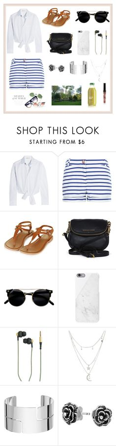 """ONE DAY"" by bb-rodrigues on Polyvore featuring moda, Maje, Petit Bateau, Topshop, Michael Kors, Native Union, Kreafunk, Charlotte Russe, Dinh Van e Bling Jewelry"