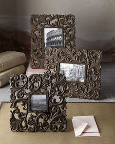 Cast-Aluminum Photo Frames by GG Collection at Horchow.