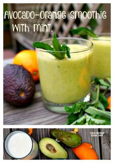 Indulge in an amazing smoothie that will refresh and nourish you !  Made with Avocado, oranges and refreshing mint.  Get the recipe at Cool Moms Cool Tips