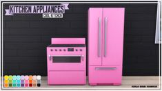 """nerdychibimonster: """" Kitchen Appliances ● You need to have the Cool Kitchen Pack to have this shown in your game. ● Ceiling Light also included. ● Requested by Hope you like it. Sims 4 Kitchen, Cool Kitchens, Kitchen Appliances, Neon Signs, Ceiling Lights, Game, Decor, Diy Kitchen Appliances, Home Appliances"""