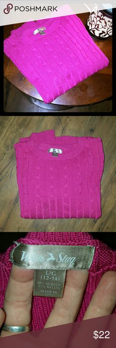 NWOT cable knit sweater This sweater is perfect for just about anything and any occasion! Dress it up or wear it casually with jeans.  Super cute and flattering. Make an offer ladies :) White Stag Sweaters Crew & Scoop Necks