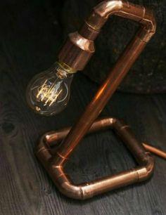 Compre Móveis Decoração Sem Marca Nunca Usado no enjoei :p Luminária feita com canos de PVC! . Feita artesanalmente .... Código: 21939015
