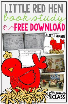 Food Group Lesson and FREE Little Red Hen companion pack!