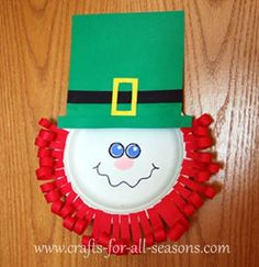 Paper plate leprechaun - from Crafts For All Seasons
