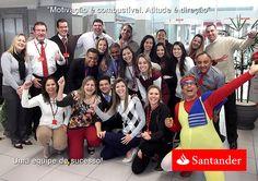 Ação Motivacional realizada no Santander por Laurinho, o Business Trainner.