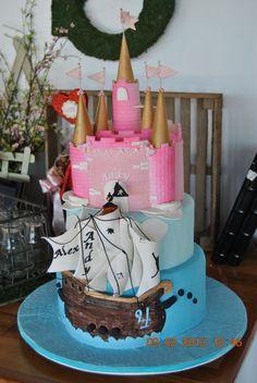 Pirate & Princess cake. #siftedbakery  #pirate #princess