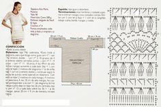 ARTE COM QUIANE - Paps,Moldes,E.V.A,Feltro,Costuras,Fofuchas 3D: Gráfico Blusa e vestido de crochet inéditos