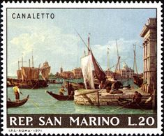 'View of the Harbour of Venice and the Customs' Office / Punta dogana / Customhouse Dock' - Canaletto Php, Republic Of San Marino, Postage Stamp Art, Used Books, Vintage Postcards, Great Britain, We The People, Remote, Opera