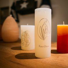 #osterkerzen www.candela.at Pillar Candles, Easter Candle, Candles, Taper Candles