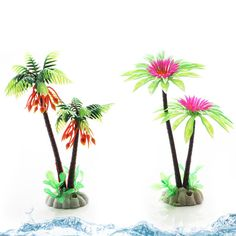 Fish Tank Green Aquarium Plants Water Grass Plastic Decoration Ornament Plant W & Garden