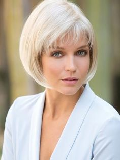 """Classic Bob hair style with textured fringe. """"Quality wigs are always in style.""""… Classic Bob hair style with textured fringe. """"Quality wigs are always in style. Short Bob Hairstyles, Wig Hairstyles, Black Hairstyles, Shaggy Haircuts, Haircut Short, Girl Haircuts, Hairstyle Ideas, Corte Channel, Short Straight Bob"""
