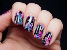 TUTORIAL: Distressed Nail Art (Punk/Grungy Effect) - bellashoot.com