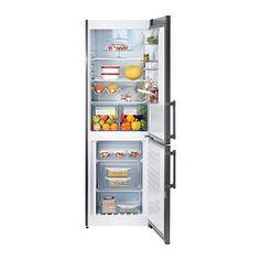 IKEA - KYLIG, Frigorífico/congelador A++, 5 años de garantía. Consulta las condiciones generales en el folleto de garantía.Las 3 baldas regulables de vidrio templado te permiten adaptar el espacio a tus necesidades.Al tener un ventilador integrado que proporciona una temperatura homogénea a todo el interior, puedes poner la comida en cualquier parte del frigorífico.La función de enfriado rápido es especialmente útil para enfriar rápidamente los alimentos y las bebidas cuando haces la com...