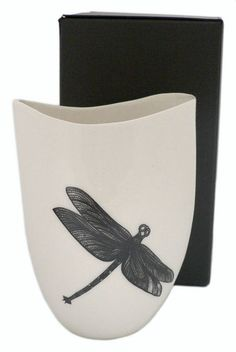 Jo Luping Design : Porcelain Vessel - Dragonfly