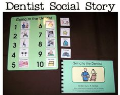 DENTIST Social Story Book and PECS Schedule Kit by adapted4autism