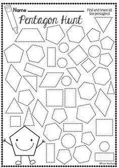 SHAPES WORKSHEET PACKET - BUSY WORK FOR 2D SHAPES $