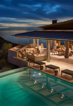 Architecture Luxury Houses Rosamaria G Frangini ***Luxury Homes*** Open style beach house ~Grand Mansions, Castles, Dream Homes Future House, Outdoor Spaces, Outdoor Living, Indoor Outdoor, Architecture Design, Design Exterior, Belle Villa, My Dream Home, Dream Homes