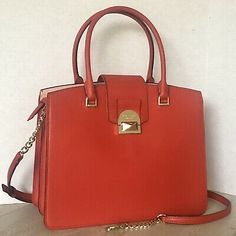Leather Medium Satchel Bags & Handbags for Women for sale Leather Material, My Bags, Dooney Bourke, Red Leather, Chili, Satchel, Kate Spade, Shoulder Bag, Handbags