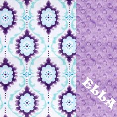 Shannon Minky Cuddle Flourish Lilac Fabric By The Yard  This Minky Cuddle  fabric has an extremely soft pile that s perfect for baby accessories  blankets ... b425f0da4