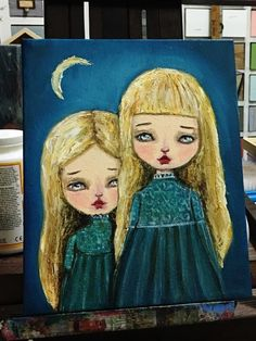 The daughters of the moon walk out at night, exploring under the watchful eyes of their pale mother. I recently started working with oil paintings and a new world of. Olor of texture has been placed i