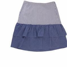 J. Crew Skirts | Jcrew Womens A Line Skirt Blue White Stripe 4 | Poshmark J Crew Style, Women Brands, White Patterns, A Line Skirts, Blossoms, Blue And White, Stripes, Fashion Trends, Outfits