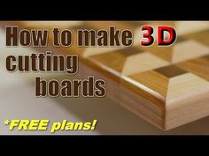 Woodworking: How to make cutting boards (FREE plans! Small Woodworking Projects, Carpentry Projects, Woodworking School, Small Wood Projects, Woodworking Workbench, Popular Woodworking, Woodworking Courses, Woodworking Forum, Youtube Woodworking